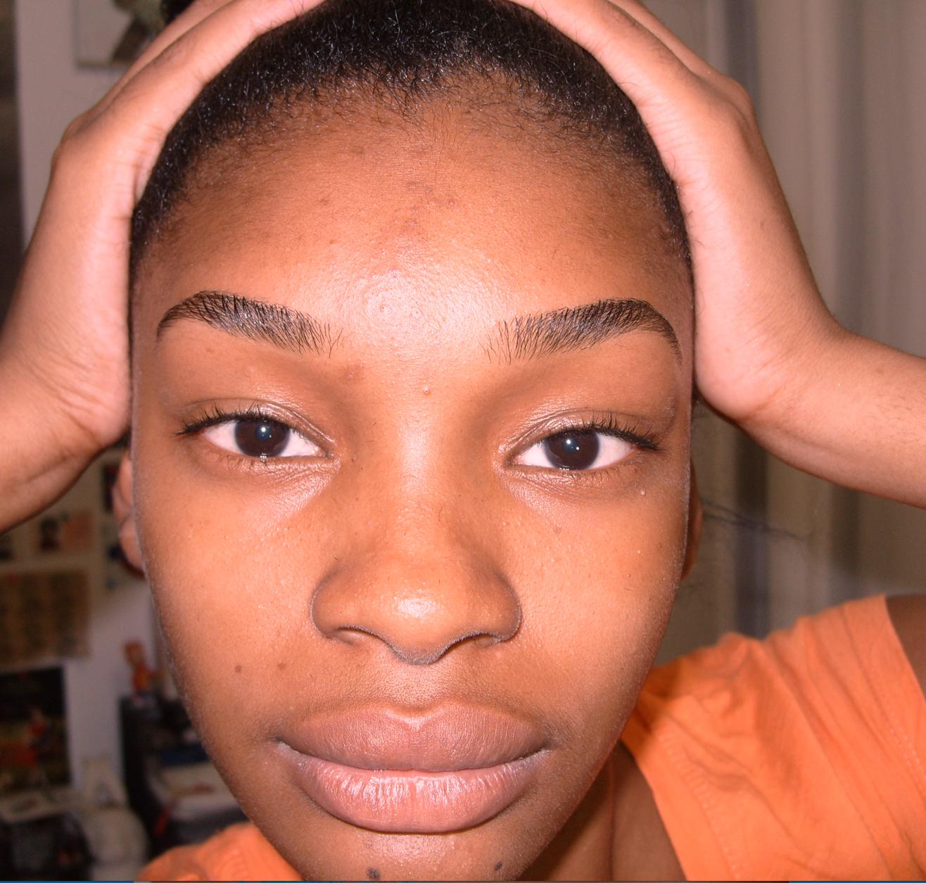 how to draw bushy eyebrows